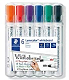 Staedtler Lumocolor 351 WP6 Whiteboard-Marker, Rundspitze...