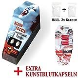 FXSTUFF Vampirzähne 'Blood Sucker' + Kunstblut Kapseln +...