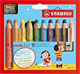 Stabilo Buntstift, Wasserfarbe & Wachsmalkreide woody 3 in 1...