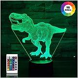 Dinosaurier-Geschenke, T Rex 3D-Nachtlicht 16 Farben, die...