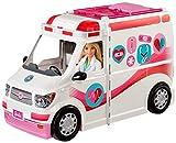 Barbie FRM19 - 2-in-1 Krankenwagen, aufklappbares Fahrzeug...
