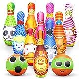 Kegelspiel für Kinder Bowling Ball Set mit 10 Kegel und 2...