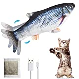 PiAEK Elektrisches Spielzeug Fisch, Katzen Interaktive Fisch...