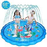WOWGO Splash Pad, 170cm Sprinkler Play Matte,...